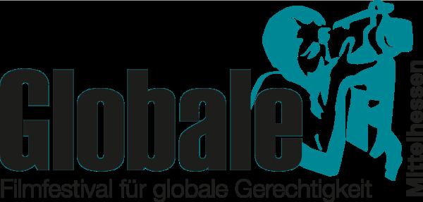 Logo der Globale Mittelhessen. Frau mit Kamera